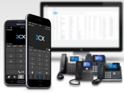 3CX mobile app, desktop, and handsets